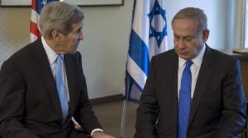 Le Premier ministre israélien Benjamin Netanyahou et John Kerry le 22 octobre