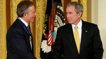 Tony Blair et George W. Bush