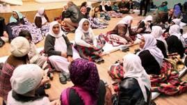 Des femmes yézidies dans un refuge