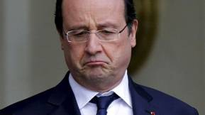 La lente dégringolade de la popularité de Hollande....