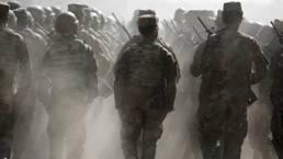 Des soldats dans le centre d'entraînement à Kaboul, en Afghanistan