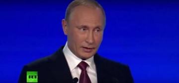 Vladimir Poutine à la 13ème rencontre du club Valdaï