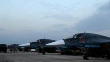 Les avions russes Su-34 à Lattaquié