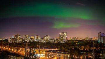 L'aurore boréale à Saint-Pétersbourg