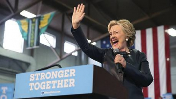 Hillary Clinton en campagne ©Lucy Nicholson/Reuters