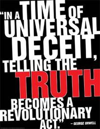 orwell telling truth revolutionary act