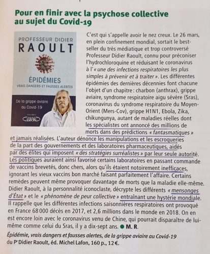 Livre du Pr Didier RAOULT sur la psychose du Coronavirus.jpg