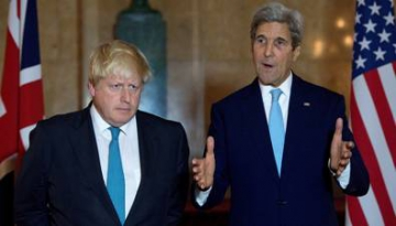 Boris Johnson et John Kerry