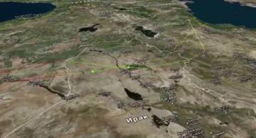 Trajectoire des missiles russes tirés contre l'EI en Syrie