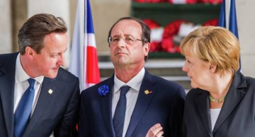 David Cameron, François Hollande et Angela Merkel
