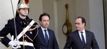 François Hollande avec Khaled Khodja, président de la coalition nationale syrienne. REUTERS/ Philippe Wojazer