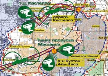 La route de Castello sur la carte