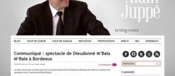 Alain Juppé a décidé d'interdire le spectacle de Dieudonné prévu à Bordeaux le 26 janvier.