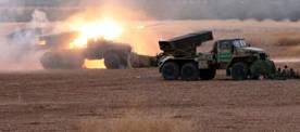 L'armée syrienne bombarde les positions de Daesh au sol