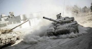Armée syrienne dans la banlieue de Damas