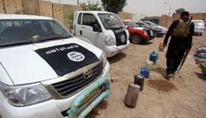 Des véhicules Toyota confisqués à Daesh en 2014 en Irak