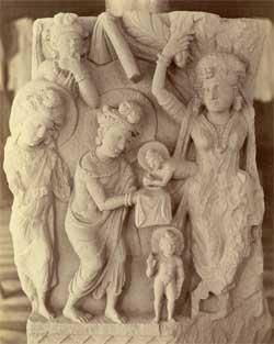 Bouddha né du côté d'une vierge