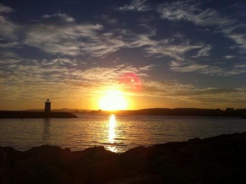 nibiru au lever du soleil sur le port de saint laurent du var 06 le 27 janvier 2013 le. Black Bedroom Furniture Sets. Home Design Ideas